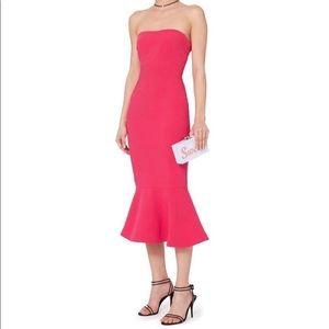 Pink Luna strapless tulip cocktail dress